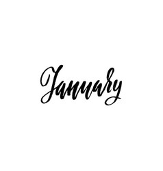 Hand drawn typography lettering january month vector