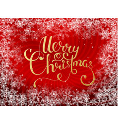 holiday lettering merry christmas vector image vector image