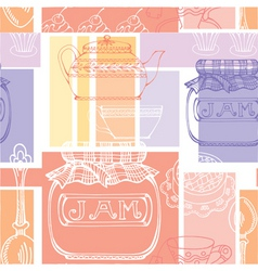 kitchen pattern vector image