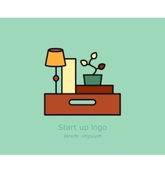 Office and moving logo vector