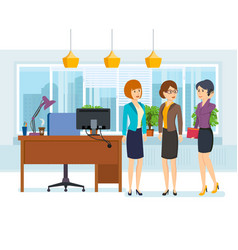 office employees in strict business clothes vector image