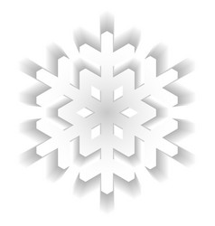 paper snowflake with long shadow design isolated vector image vector image