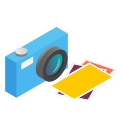 Photo camera isometric 3d icon vector image