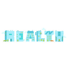 Realty - the word alphabet letters vector