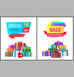 Special offer final price exclusive sale posters vector