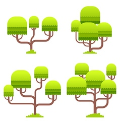 Stylized tree on white background vector image