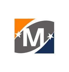 Success solution letter m vector