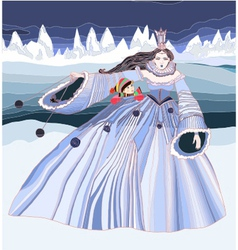 The snow queen vector