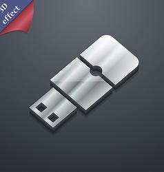 USB flash icon symbol 3D style Trendy modern vector image