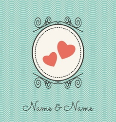 wedding cards1 vector image