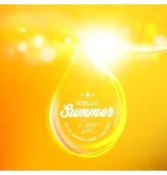 Yellow honey drop vector image vector image