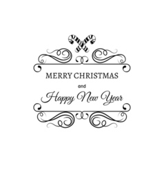 Merry christmas and a happy new year greeting card vector