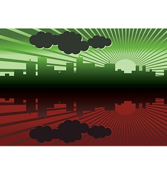 morning city panorama picture vector image