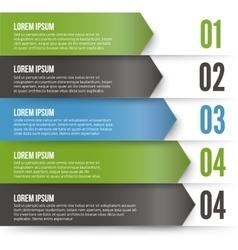 Green arrows infographics vector