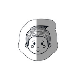 boy cartoon icon vector image