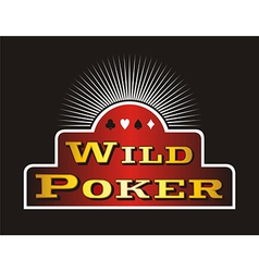 Poker icons vector image