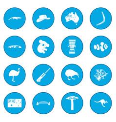 Australia icon blue vector