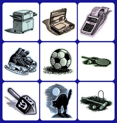 Advertising icon collection vector
