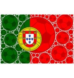 Portugal soccer balls vector image