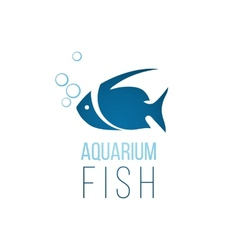 Aquarium fish logo template vector