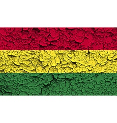 Flag of bolivia with old texture vector