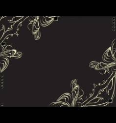 Metal filigree background vector