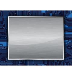 metal banner vector image
