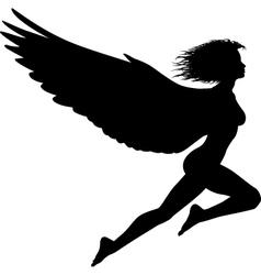 flying woman vector image