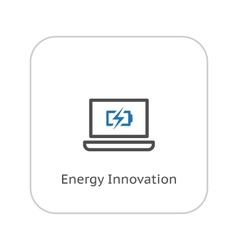Energy innovation icon business concept flat vector