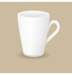 Ceramic latte coffee cup vector