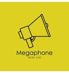 Megaphone isolated icon design vector
