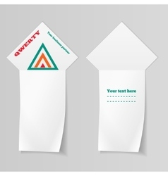 Ribbon arrow view paper vertical banners with vector