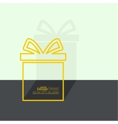 Gift box near wall vector