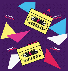 80s background style vector