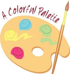 Colorful palette vector