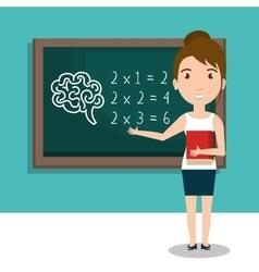 Students in classroom design vector
