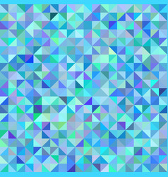 Abstract background of triangles blue green scale vector