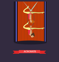 aerial acrobats in flat style vector image
