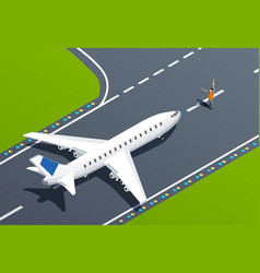 airport isometric vector image
