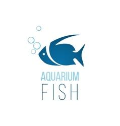 Aquarium fish logo template vector image