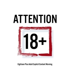 Attention 18 red rectangle eighteen stop sign vector