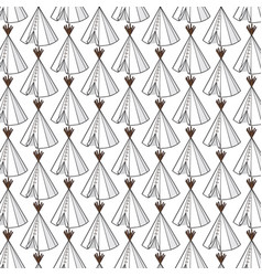 background pattern with wigwam vector image vector image