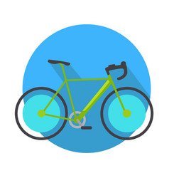 bicycle icon design flat isolated bike web button vector image