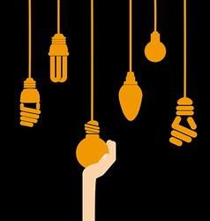 bulb idea vector image