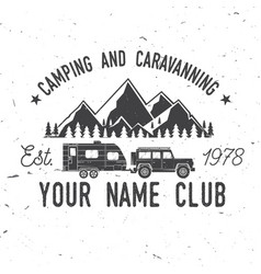 camper and caravaning club vector image vector image