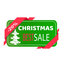 Christmas best sale label abstract new year tree vector