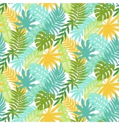 Colorful hawaiian plants seamless pattern vector