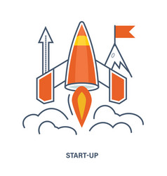 concept of start up business vector image vector image