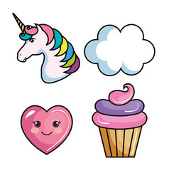 cute objects design vector image