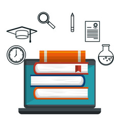 Education online concept icons vector